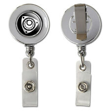 Rotary Rotor Engine RX-8 RX-7 Retractable Reel Chrome Badge ID Card Holder