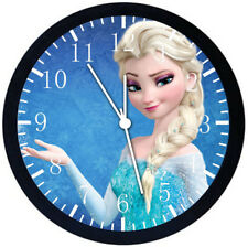 Disney Frozen Elsa Black Frame Wall Clock Nice For Decor or Gifts A471