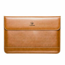 LENTION Leather Laptop Sleeve Bag Cover Case Pouch for MacBook Pro 15 16-inch
