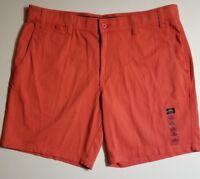 Men's Foundry Flat Flex Front Comfort Shorts 44 46 48 52 Big & Tall Coral NWT