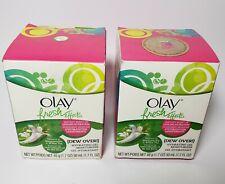 2 Olay DEW OVER Fresh Effects Honeysuckle White Tea Gel Moisturizer DISCONTINUED