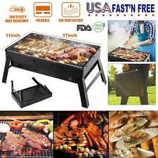 BBQ Barbecue Grill Folding Portable Charcoal Outdoor Camping Patio  Stove Cooker
