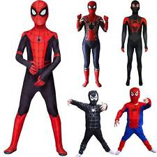 Kids Boys Spiderman Halloween Jumpsuits Fancy Dress Superhero Cosplay Costume