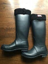 Hunter Boots Fleece Lined Womens Norris Field Neoprene Dark Green EU 37 US 5-7