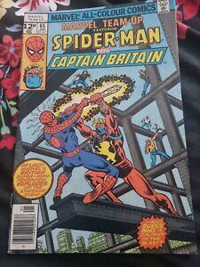 Marvel team up comic no 65, Spiderman/Captain Britain,good condition