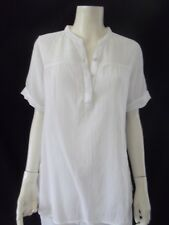 CAPTURE Womens short  sleeve White Shirt/Blouse size 12