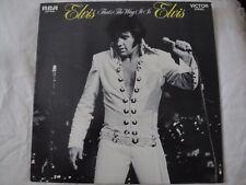 ELVIS PRESLEY ELVIS THAT'S THE WAY IT IS VINYL LP 1970 RCA VICTOR PATCH IT UP EX