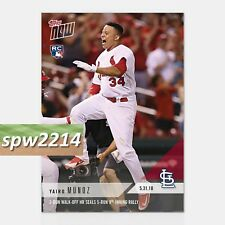 2018 Topps Now Yairo Munoz (Rc) #271 Walk-Off Hr Seals Cardinals Rally