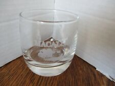 "MCALLAN Heavy Bottom ETCHED High Ball Cocktail Tumbler 3.25"" Glass VERY RARE"