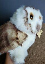 "Folkmanis Barn Owl Hand Puppet 12"" Stuffed Plush Movable Wings"