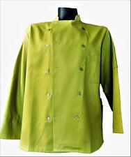 Superior Uniform Group Unisex Olive Green Uniform 10 Button Chefs Coat Size Xl
