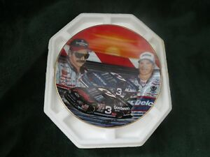 "Vintage rare collectible Earnhardt Sr. and Jr ""rising son"" plate"