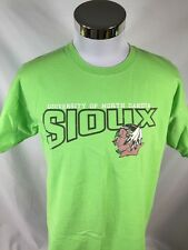 UND Fighting Sioux Bright Rare Color Large L T Shirt