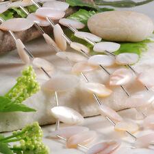 Strang Perlmutt Muschel Shell Marquise Perlen Beads 22x10MM f. Schmuck DIY