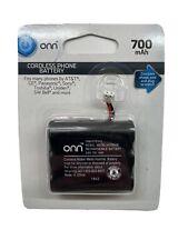 ONN Cordless Phone Battery 700mAh 3.6V - ONB16TE003, Universal Fit, New