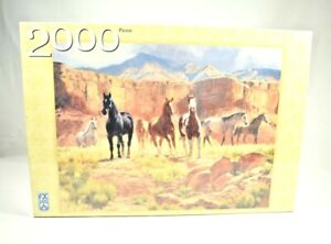 FX Schmid - Canyon Horses by Claire Goldrick 2000 Piece Jigsaw Puzzle (2004) New