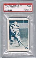 1952 Junior Blue Tint  Hockey Card Barrie Flyers James Robertson Graded PSA 7