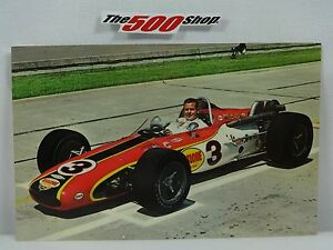 """1968 Indianapolis 500 #3 Bobby Unser Rislone Postcard Out of Print 3.5"""" x 5.5"""""""