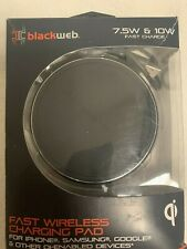 Blackweb 10W Qi Fast Wireless Certified Charging Pad - Black