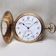 1900 Illinois Sangamo 21 Ruby Jewel RAILROAD Grade Full Hunter Pocket Watch 16s