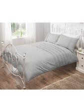 George Home 100% Cotton 180 Thread Grey Pintuck DOUBLE Duvet Set + 2 Pillowcase