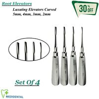Surgical Root Luxating Elevators Curved Set Of 4