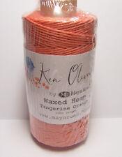 100m Waxed Hemp Tangerine Orange Cord String for Jewelry Making Art n Craft