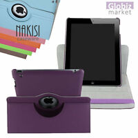 360 DEGREE ROTATING STAND COVER CASE for APPLE IPAD 2 / 3 / 4 RETINA +STYLUS PEN