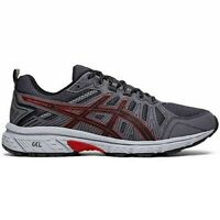 Mens Asics GEL-VENTURE 7 (4E) 1011A561-003 Black/Red Lace-Up Trail Running Shoes