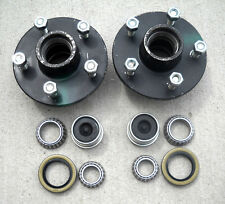 2- 5x4.75 Idler Hubs w/ 3500# Bearing Kits Replace Trailer Axle fits Dexter