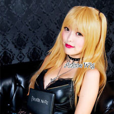 Amane Way Women Facy Party Cosplay Yellow Blonde DEATH NOTE Misa Wig+Free Wig