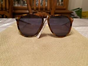 NWT Ermenegildo Zegna  Brown Aviator Sunglasses NWT