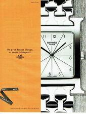 Publicité Advertising 087  1998  montre heure H par Hermès
