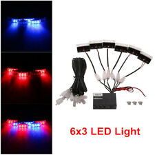 Auto 18-LED Amber Strobe Emergency Flashing Police Warning Grill Light 12V Dossy