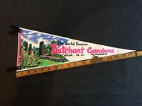 But chart Gardens Victoria BC Vintage Felt Pennant  Flag Combine Shipping