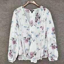 Brand New Torrid Womens White Floral Top Summer Blouse Shirt Size 2/2X