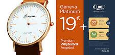 GENEVA - PLATINUM / UNISEX / Ultrathin / PU Leder +++ 80€ Dloop.de Rabatt Coupon