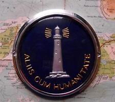 Old Genuine Vintage Car Mascot Badge :  Lighthouse : Aliis Cum Humanitate