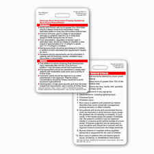 ABA Burn Care Guidelines & Referral Criterria Vertical Badge ID PockeCard RN EMT