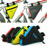 Bicycle Triangle Frame Front Bag Saddle Panniers Bike Tube Pouch Holder New
