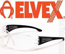 Elvex Atom Black 2.5 Clear Safety Glasses Bifocal Reading Magnifier Z87+