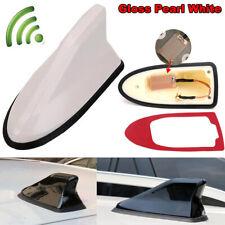 Universal Pearl White Car Shark Fin FM/AM Radio Signal Antenna Auto Roof Aerial