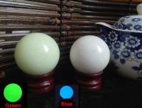 50MM Green/Blue Luminous Quartz Crystal Sphere Ball Glow In The Dark Stone+stand