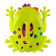 Boon Frog Pod Bath Scoop Baby Toys Holder Mould Free Dripper Bathing Organizer
