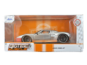 Jada Toys 2020 Big Time Muscle Silver 2005 Ford GT