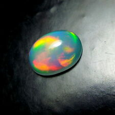 9x7 MM Calibrated Oval Shape Natural AAAA Grade Rainbow Fire Welo Opal Cabochon