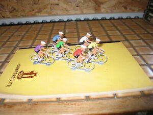 cycliste en plastique lot de 6 coureurs