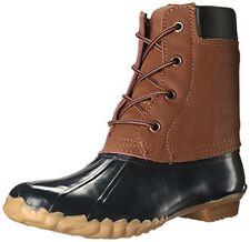 Western Chief Women's Four Eye duck boot Waterproof leather Navy sz 9 Med NEW