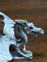 Vintage Ral Partha Pewter Winged Dragon D&D Red Jeweled Eyes PP60 1983