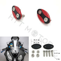 Mirror Block Off Plates Mirror Cover Caps for BMW S1000RR 2013-2018 Red